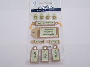 Scrapbooking-Card-Making-Stickers-Sandylion-Grandparents-Sayings-New