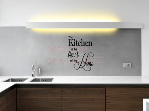 The kitchen is the heart of the home vinyl wall decals quotes sayings ...