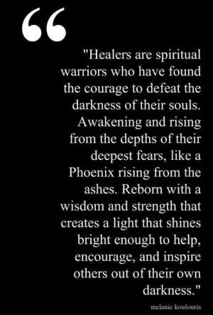 Healers are spiritual warriors