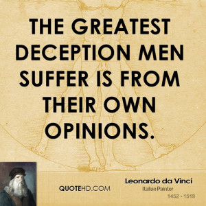 Leonardo da Vinci Men Quotes