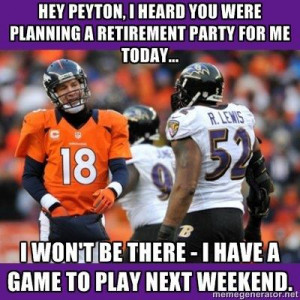 Ray Lewis beating the Broncos funny facebook status update