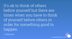 Quotes About Putting Others Before Yourself
