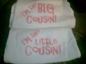 Big/little cousin onesies