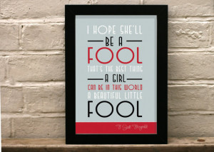 Great Gatsby Quote print - Beautiful little fool - Art deco - Art ...