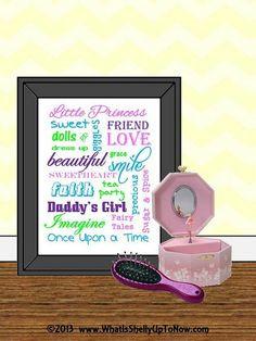 Princess, Daddys Girl, Baby Girls Nursery, Little Girls Room, Girl ...