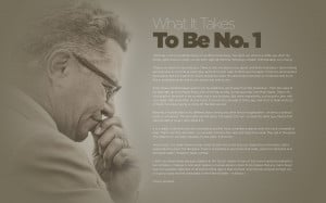 we're featuring one of Vince Lombardi's famous quotes, this one ...