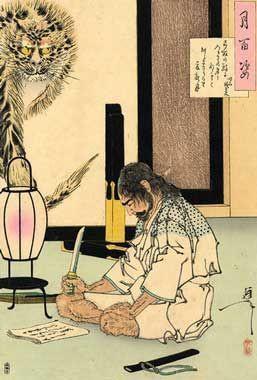 切腹,为以刀切开腹部的自杀仪式,一般认为源自 ...
