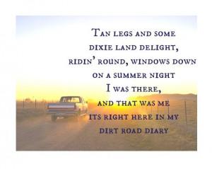 All things country — Luke Bryan - dirt road diary