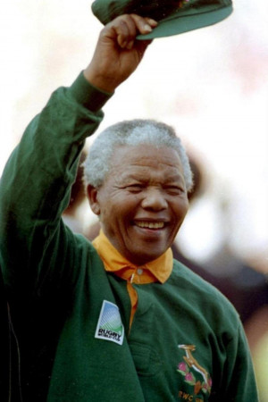 Nelson Mandela-The Most Iconic Moment: A Sprinbok Jersey-Wearing ...