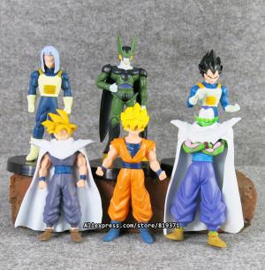 set 12cm Dragon Ball Z Action Figures Cell Goku Vegeta PVC Figures