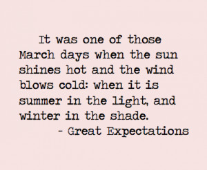 Quote from Great Expectations in Books
