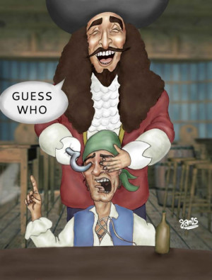 Guess who? Captain Hook edition.