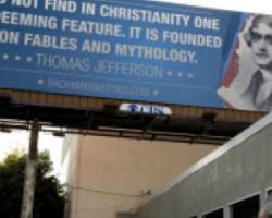 Anti-Christian Billboard Falsely Quotes Thomas Jefferson