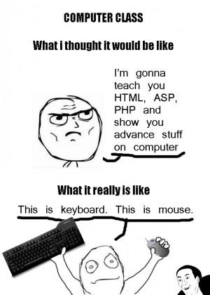 Computer Class Teacher - Expectations vs. Reality