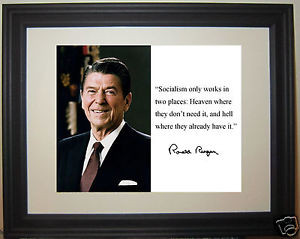 Ronald-Reagan-socialism-only-works-in-Autograph-Quote-Framed-Photo-qs1