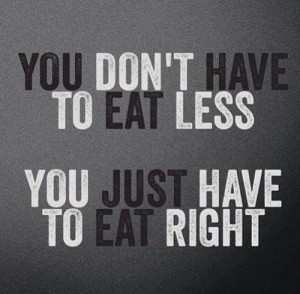 eat right quote