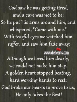 God Saw You Were Getting Tired Poem