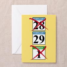 Leap Year Birthday Greeting Cards