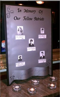 memory wall for deceased classmates More