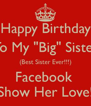 Happy Birthday Sister Quotes Facebook Quot Happy Birthday Quot to my ...
