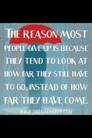 The reason most people give up...