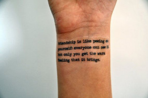 Friendship Quote Temporary Tattoo Friendship by temporarytattooyou, £ ...