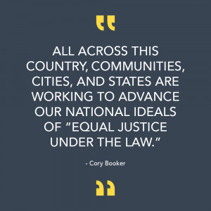 Cory Booker Quote on Criminal Justice