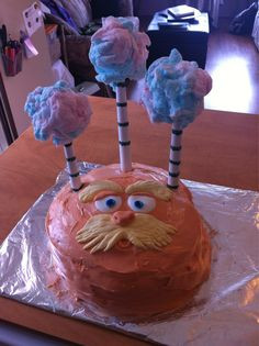 ... Lorax and quotes Dr. Seuss. She loved it!! It's rainbow layered cake