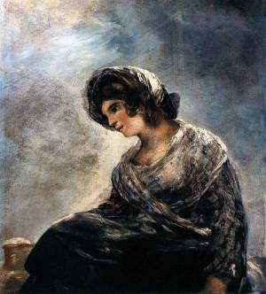 por Goya en1827 Es un retrato de la enfermera que cuidaba a Goya
