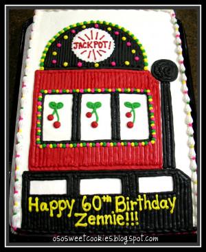 Slot Machine Cake