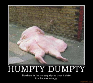 HUMPTY DUMPTY - Nowhere in the nursery rhyme does it state that he was ...