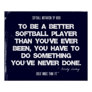 Softball Motivation 009 Print