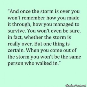 Once the Storm is Over