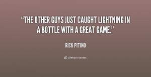The other guys just caught lightning in a bottle with a great game ...