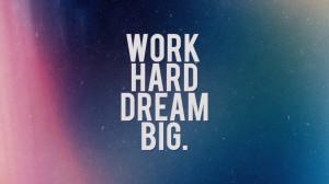 Work hard, dream big HD Wallpaper 1920x1080