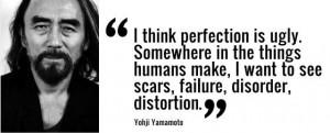Designer Yohji Yamamoto.