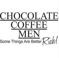 Chocolate café homme