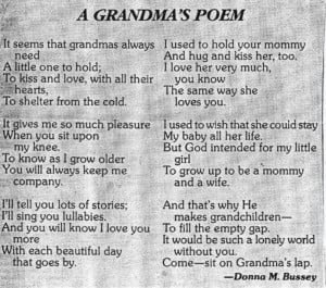 Grandmother and Grandson Quotes   Via Marilyn Sullivan