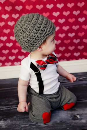GET THE SET - Boys Bow Tie Bodysuit or Shirt with Suspenders and Hat ...