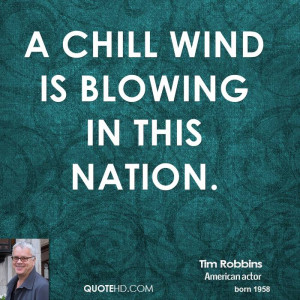 chill wind is blowing in this nation.