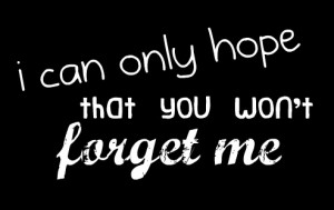 personal #quote #do not want to forget #please don't forget me #love