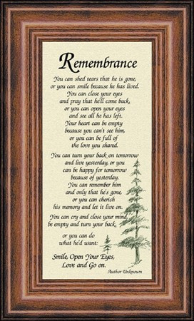 Remembrance Sympathy Poem for Male