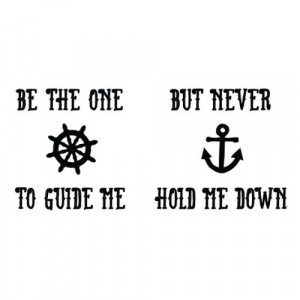 Nautical Temporary Tattoo Quote (Set of 2)-3