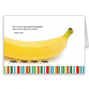 Teamwork Quote Banana Thank You Card Funny