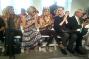 Nicki: If you didn't know, that's Anna Wintour sitting next to me ...