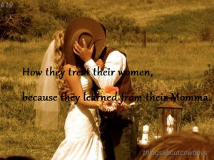 Tagged: thingsaboutcowboys country cowboys wedding bride wedding dress ...