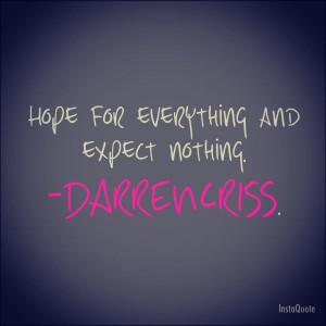 Darren Criss quote.
