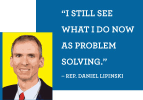 UP CLOSE image of Daniel Lipinski. Quote: 'I still see what I do now ...