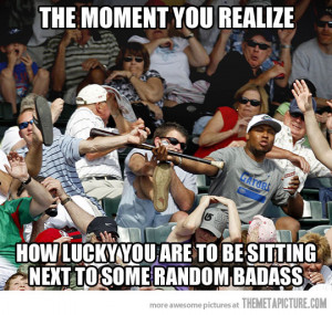 Funny photos funny bat crowd baseball game
