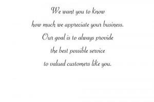 Quotes Thank You For Customers Quotesgram